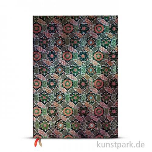 PAPERBLANKS Notizbuch - Heilige tibetische Stoffe - Chakra, 21 x 30 cm, Blanko
