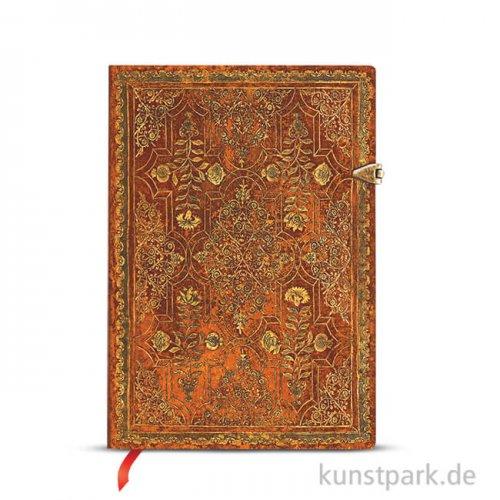 PAPERBLANKS Notizbuch - Herbstfiligran - Persimone, Blanko