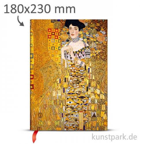 PAPERBLANKS Notizbuch - Klimts - Porträt von Adele 180 x 230 mm