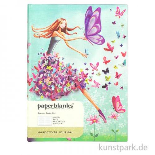 PAPERBLANKS Notizbuch - Mila-Marquis-Kollektion, Sommerschmetterlinge