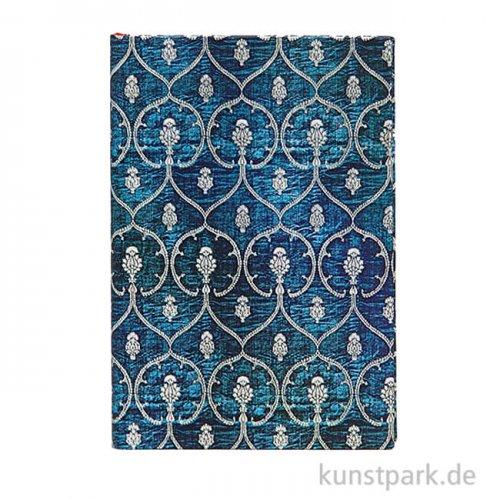 PAPERBLANKS Notizbuch - Samtblau, 95 x 140 mm, Blanko