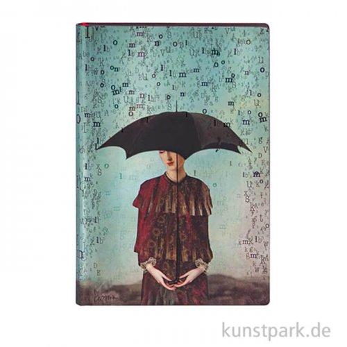 PAPERBLANKS Notizbuch - Wordscapes - Blanko, 95 x 140 mm