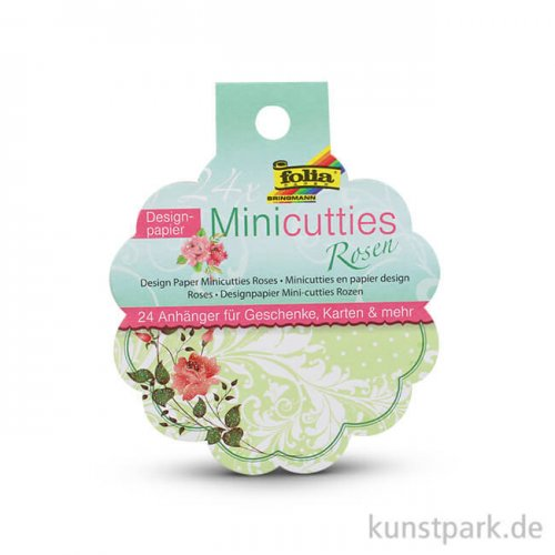 Papieranhänger Mini-Cutties - Rosen