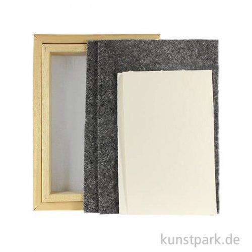 Papierschöpfrahmen-Set mit viel Zubehör