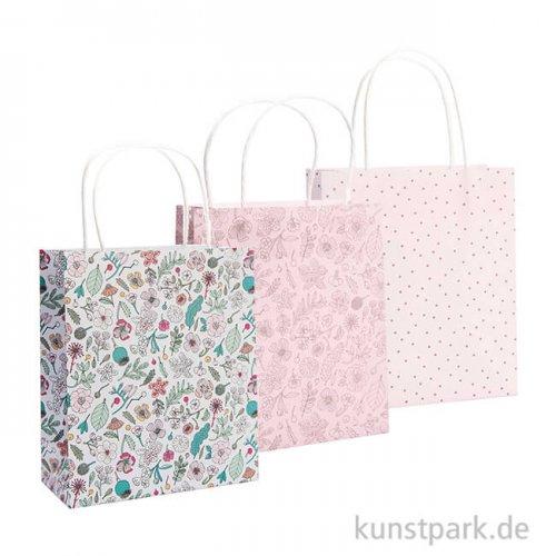 Papiertüten - Hygge Flowers, 3 Stück