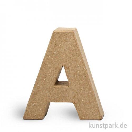 Pappmaché-Buchstaben - handgearbeitet 10 cm 10 cm   A
