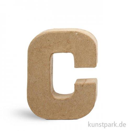 Pappmaché-Buchstaben - handgearbeitet 10 cm Einzeln   C