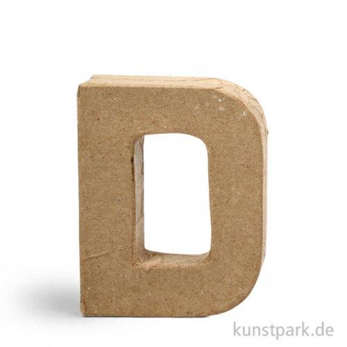 Pappmaché-Buchstaben - handgearbeitet 10 cm Einzeln   D