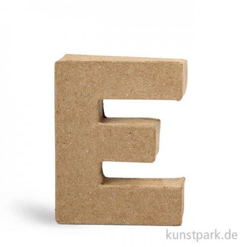 Pappmaché-Buchstaben - handgearbeitet 10 cm 10 cm | E