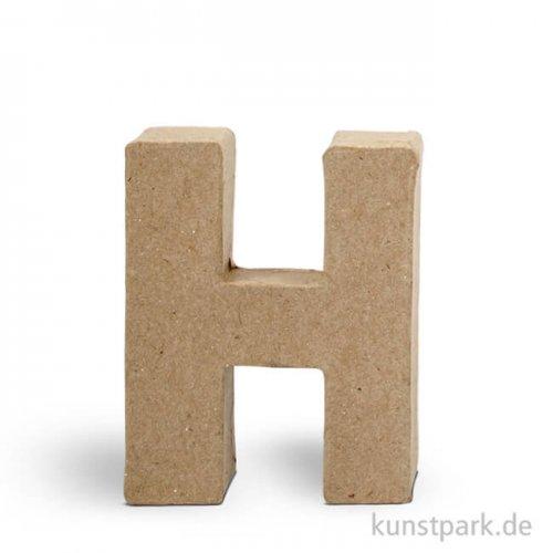 Pappmaché-Buchstaben - handgearbeitet 10 cm 10 cm | H