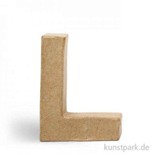Pappmaché-Buchstaben - handgearbeitet 10 cm Einzeln   L
