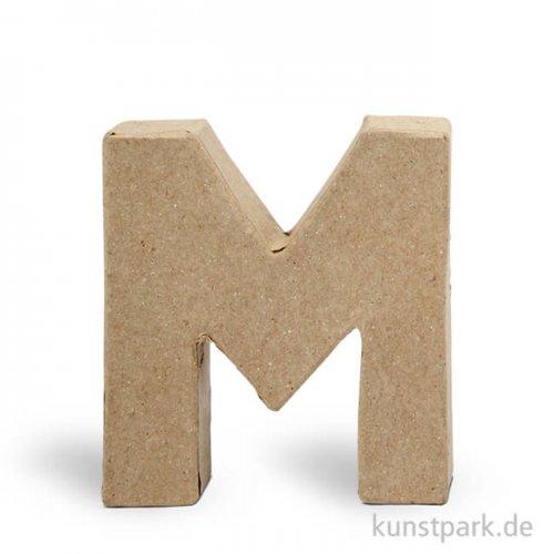 Pappmaché-Buchstaben - handgearbeitet 10 cm 10 cm | M