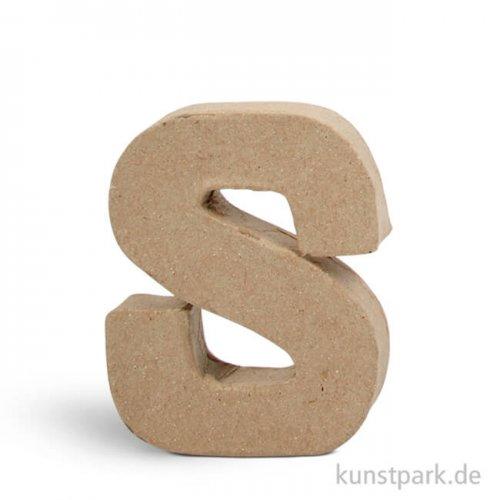 Pappmaché-Buchstaben - handgearbeitet 10 cm Einzeln   S