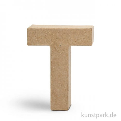 Pappmaché-Buchstaben - handgearbeitet 10 cm 10 cm | T