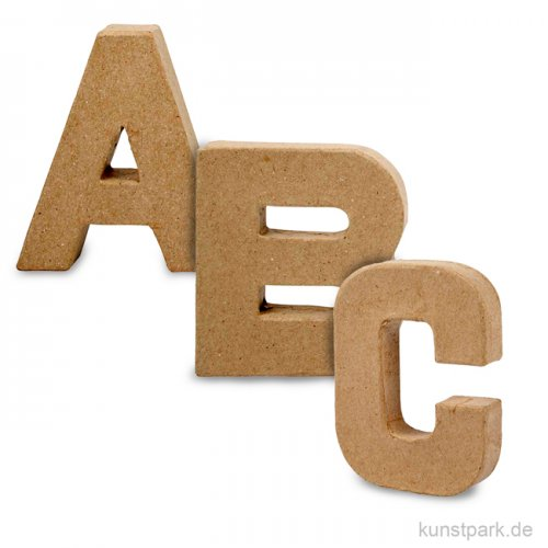Pappmaché-Buchstaben - handgearbeitet 10 cm