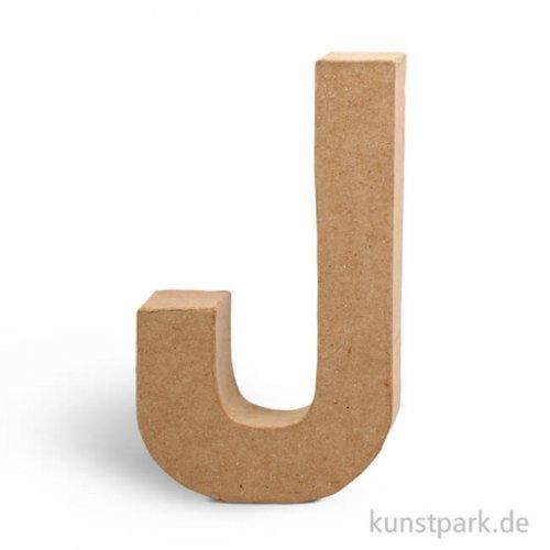 Pappmaché-Buchstaben - handgearbeitet 20,5 cm 20,5 cm | J