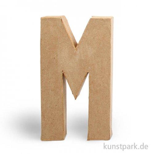 Pappmaché-Buchstaben - handgearbeitet 20,5 cm Einzeln   M
