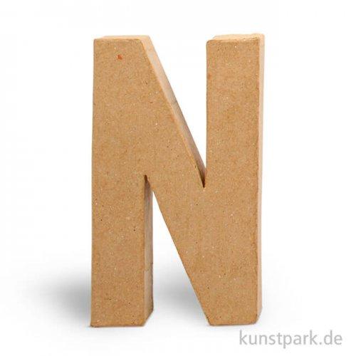 Pappmaché-Buchstaben - handgearbeitet 20,5 cm 20,5 cm | N