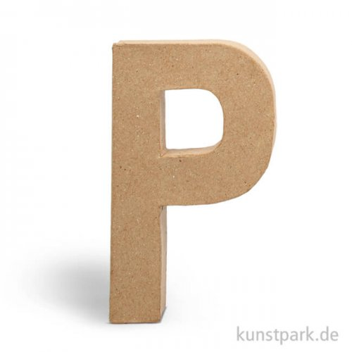 Pappmaché-Buchstaben - handgearbeitet 20,5 cm Einzeln | P