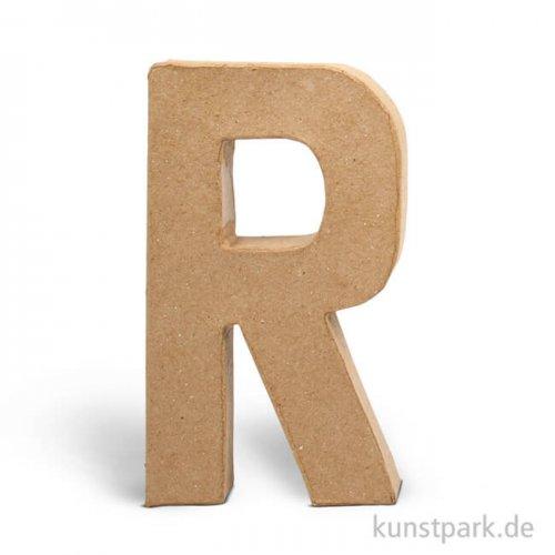 Pappmaché-Buchstaben - handgearbeitet 20,5 cm Einzeln   R