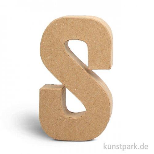 Pappmaché-Buchstaben - handgearbeitet 20,5 cm 20,5 cm | S