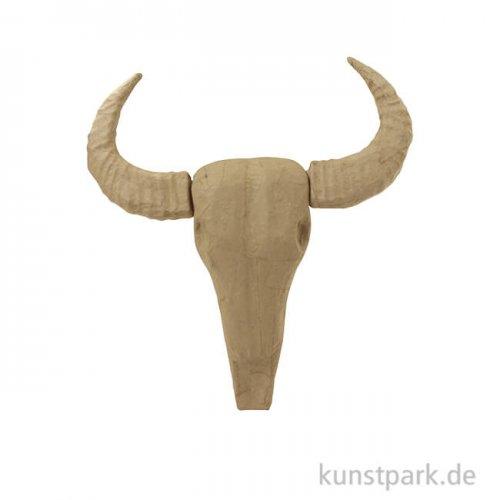 Pappmaché - Büffel Trophäe, klein