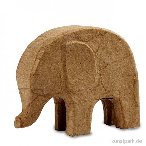 Pappmaché - Elefant, handgemacht, Höhe 14 cm
