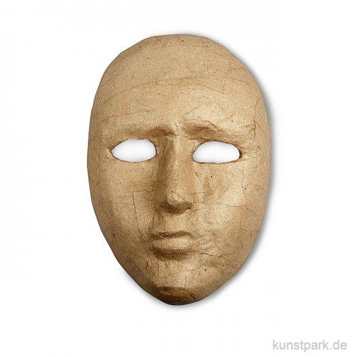 Pappmaché - Maske, gesichtsgroß, Größe ca. 16 x 23 cm, handgearbeitet