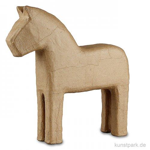 Pappmaché - Pferd, handgemacht, Höhe 24,5 cm
