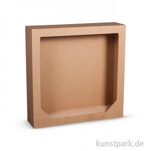 Pappmaché-Rahmen mit Holzsteckboden