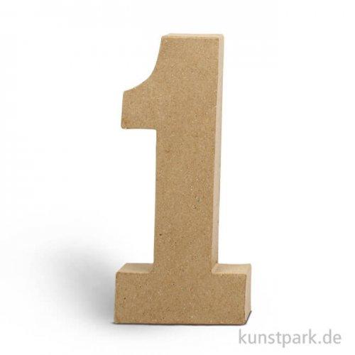 Pappmaché-Zahlen - handgearbeitet, Höhe 20,5 cm, Dicke 2,5 cm Einzeln   1