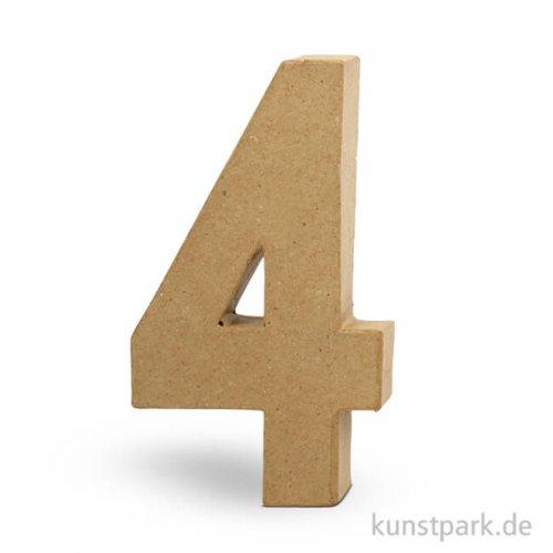 Pappmaché-Zahlen - handgearbeitet, Höhe 20,5 cm, Dicke 2,5 cm Einzeln | 4