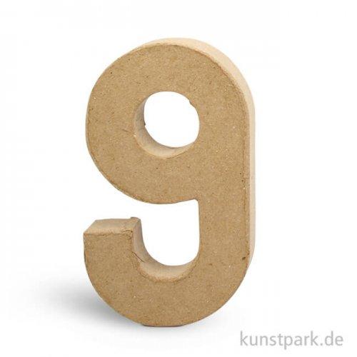 Pappmaché-Zahlen - handgearbeitet, Höhe 20,5 cm, Dicke 2,5 cm Einzeln | 9