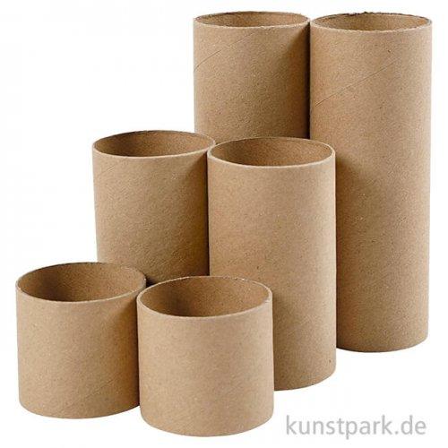 Papprollen mit verschiedenen Längen, 6 Stück im Set