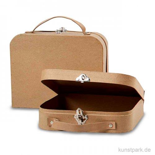 Pappschachtel - Koffer, handgearbeitet, 2 Stück sortiert