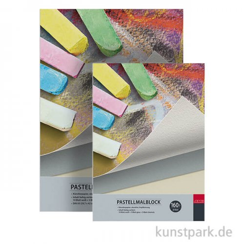 Pastellmalblock, 20 Blatt, 160 g