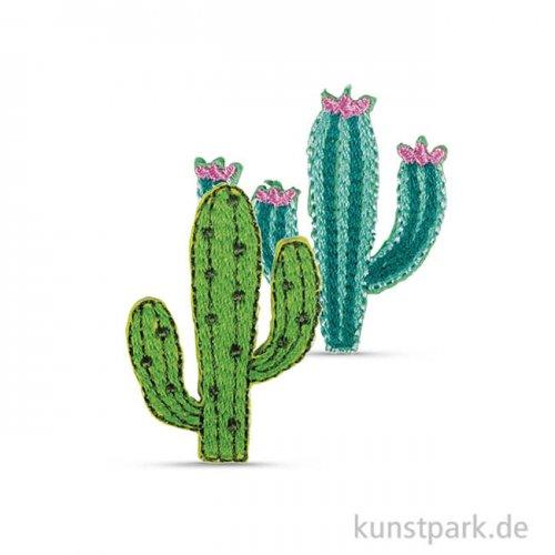 Patch zum Aufbügeln - Cactus, 2,8 - 3,5 cm, 2 Stück sortiert