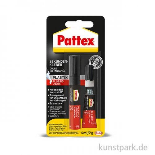 PATTEX Sekundenkleber Plastix Flüssig, 2g