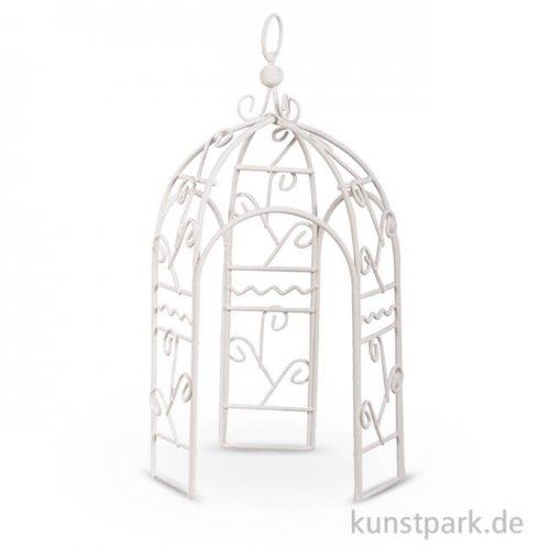 Mini Pavillon - Weiß, 11x11x20 cm, 1 Stück