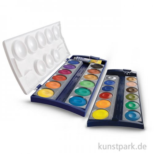 Pelikan Deckfarbkasten mit 24 Farben und Deckweiß
