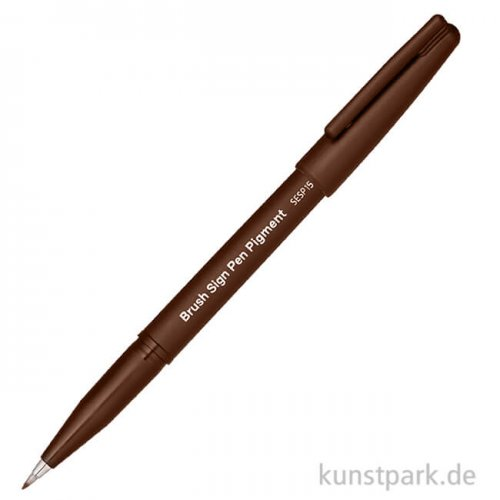 PENTEL Arts Brush Sign Pen - Pigment Sepia