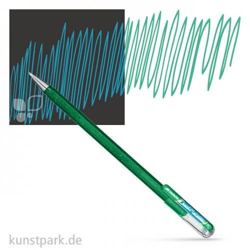 PENTEL Hybrid DualMetallic Glitter Gel Pen 0,5 mm Einzelstift | Grün - Metallic Blau