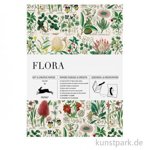 PEPIN Kreativpapier Buch - Flora
