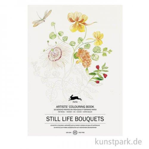 PEPIN Künstler Malbuch - Still Life Bouquets