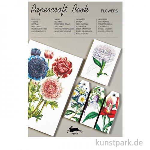 PEPIN Papercraft Buch - Flowers, 21 x 30 cm