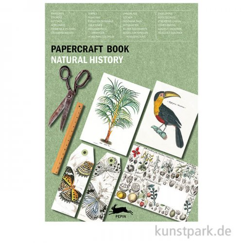 PEPIN Papercraft Buch - Natural History, 21 x 30 cm