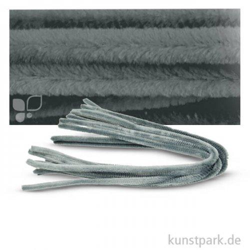 Pfeifenputzer Chenilledraht, 10 Stück, Einzelfarbe 50 cm | Grau