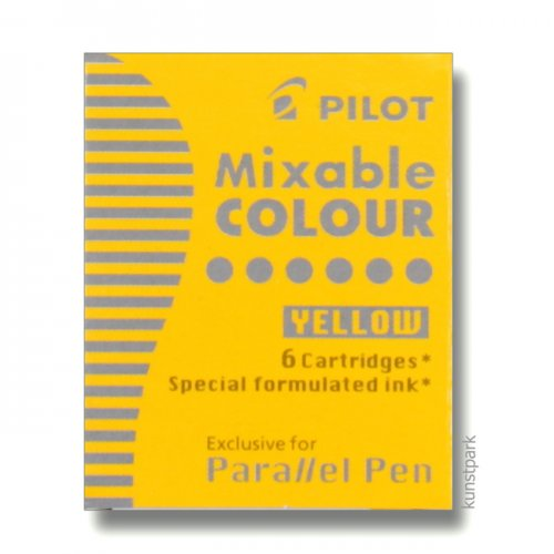 Pilot Pen Patronen 6 Stück, Farbe Gelb