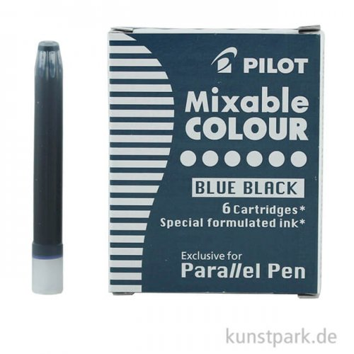 Pilot Pen Patronen 6 Stück, Farbe Blauschwarz