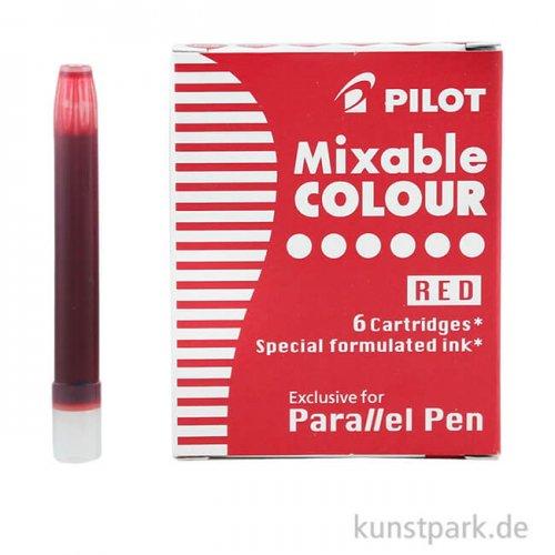 Pilot Pen Patronen 6 Stück, Farbe Rot